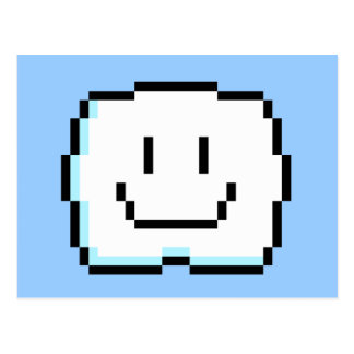 Cute Pixel Cloud Postcard