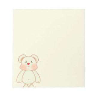 Cute Pixel Drawing Bear Notepads