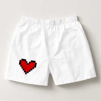 Cute pixel heart boxer shorts for Valentines Day Boxers
