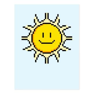 Cute Pixel Sun Postcard
