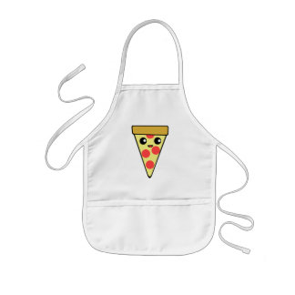 Cute Pizza Character Kids Apron