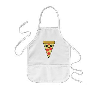 Cute Pizza Character Kids Apron