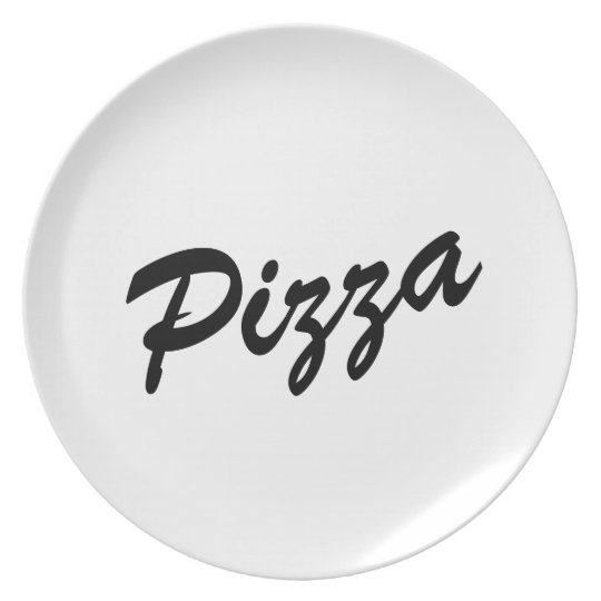 Cute pizza lover dinner plates | Customisable text