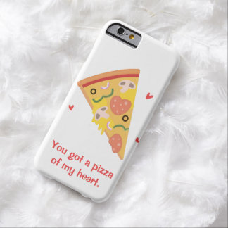 Cute Pizza of my Heart Pun Love Humor Barely There iPhone 6 Case