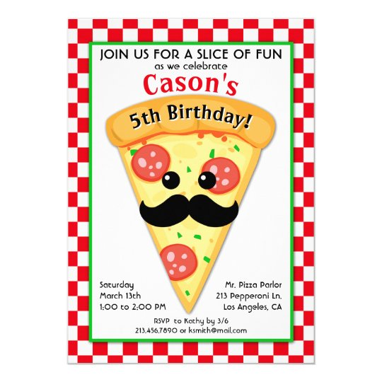 Cute pizza party kids birthday invitation zazzle cute pizza party kids birthday invitation stopboris Image collections