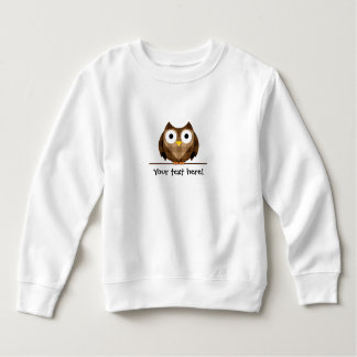 Cute Plaid Brown Horned Owl Illustration Sweatshirt
