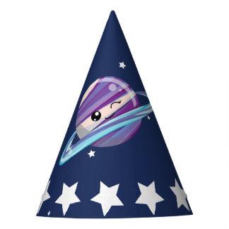 Cute Planet Saturn Space Galaxy Kid Birthday Party Hat