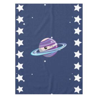 Cute Planet Saturn Space Galaxy Kid Birthday Tablecloth