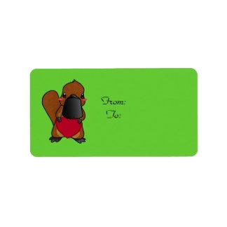 Cute Platypus Address Label