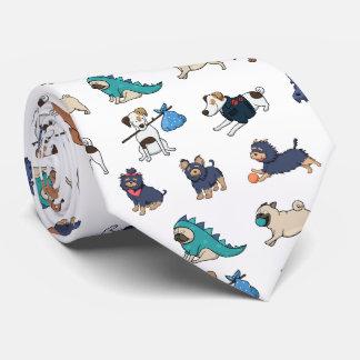 Cute Play Dogs Tie
