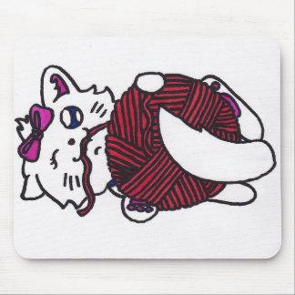 cute playful kitten mouse pads