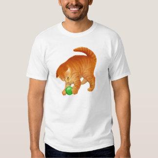 Cute Playing Orange Tabby Kitten T-Shirt