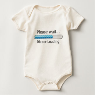 Cute! Please Wait... Diaper Loading Baby Bodysuit