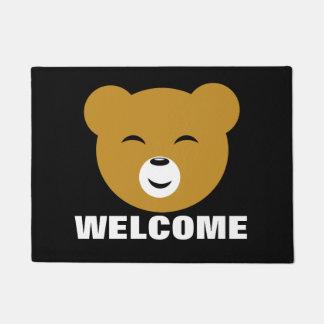 Cute Pleased Kawaii Bear Face Doormat