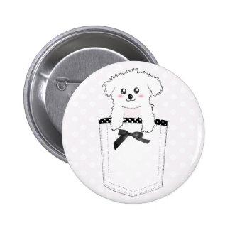 Cute Pocket Puppy Dog Pin