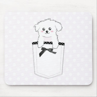 Cute Pocket Puppy Dog Mouse Mat