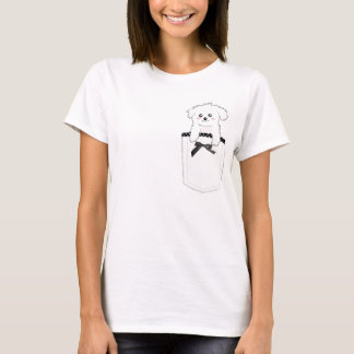 Cute Pocket Puppy Dog T-Shirt
