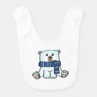 Cute Polar Bear Baby Bib