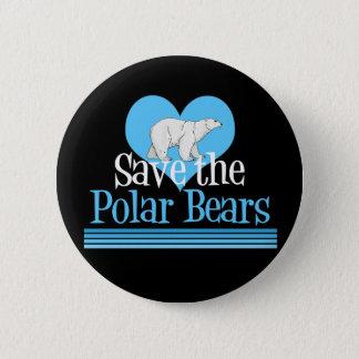Cute Polar Bear Black Button