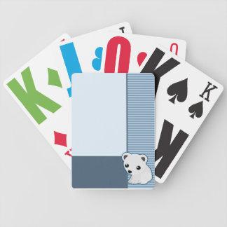 Cute Polar Bear Blue Cards Playing Cards