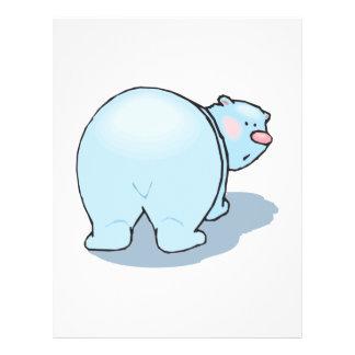 cute polar bear butt custom flyer