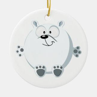 Cute polar bear christmas ornament