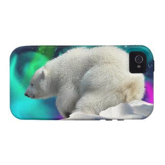 Cute Polar Bear Cub Aurora iPhone 4 Case