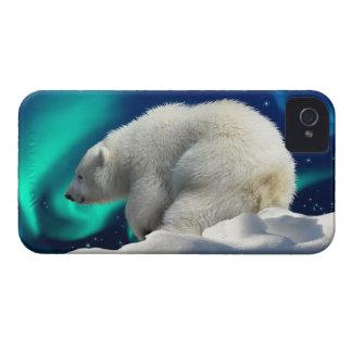 Cute Polar Bear Cub & Aurora iPhone 4 Case