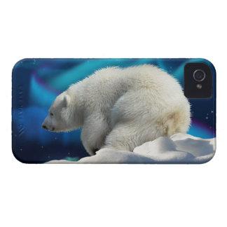 Cute Polar Bear Cub & Aurora Phone Case