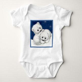 Cute Polar Bear Cubs Baby Bodysuit