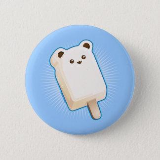Cute Polar Bear Ice Cream Bar 6 Cm Round Badge