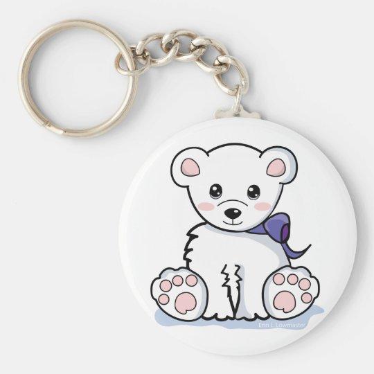 Cute Polar Bear Key Ring