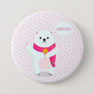 Cute Polar Bear Personalized Button