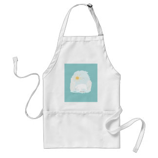Cute Polar Bear try to get some fish and sun Adult Apron