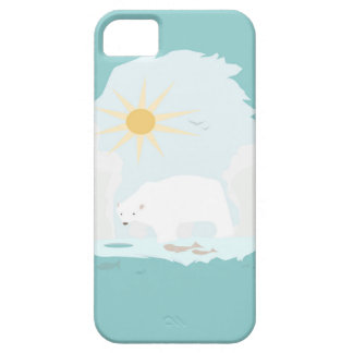 Cute Polar Bear try to get some fish and sun iPhone 5 Cases