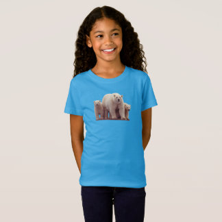 Cute Polar Bears Cubs Arctic Wildlife Girl's Shirt