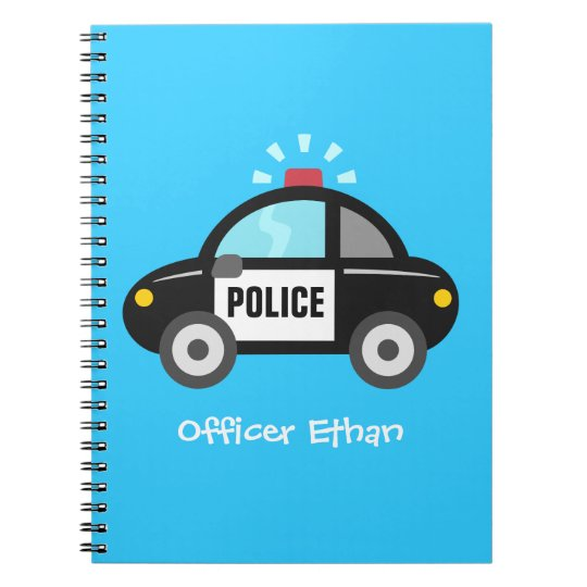 Cute Police Car with Siren For Kids Notebooks