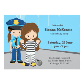 Cute Police Officer Card