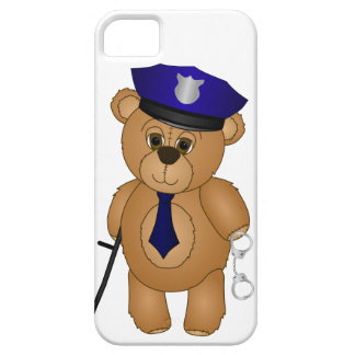 Cute Policeman Kids Teddy Bear Cartoon Mascot Barely There iPhone 5 Case