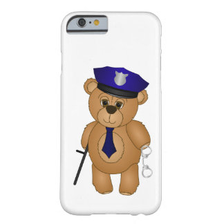 Cute Policeman Kids Teddy Bear Cartoon Mascot Barely There iPhone 6 Case