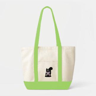 Cute Polka Dot Black Kitty Cat Bag
