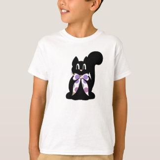 Cute Polka Dot Black Kitty Cat Shirt