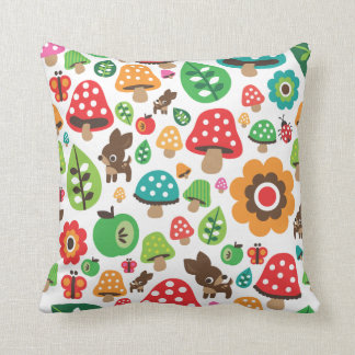 Cute polka dot butterfy flower retro deer cushion