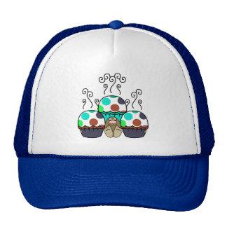 cute polka dot cupcake cap