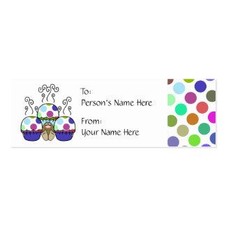 cute polka dot cupcake pack of skinny business cards