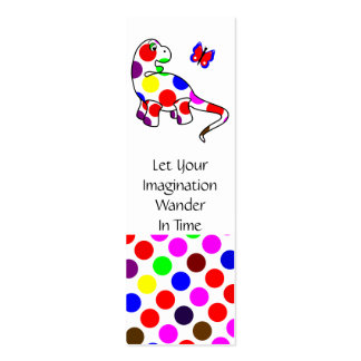 Cute Polka Dot Dinosaur Bookmark Business Card