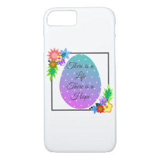 Cute polka dot egg with floral wreath iPhone 8/7 case