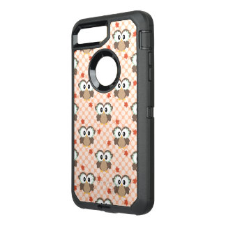 Cute Polka Dot Fall Owl OtterBox Defender iPhone 8 Plus/7 Plus Case