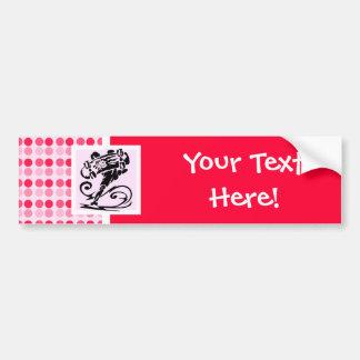 Cute Polka Dot; Girly Skater Bumper Sticker