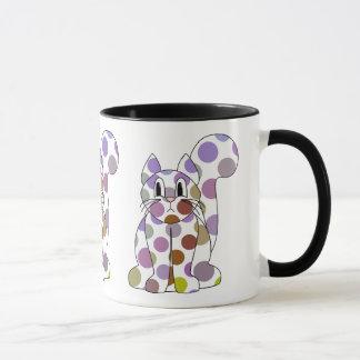 Cute Polka Dot Kitty Cat Mug
